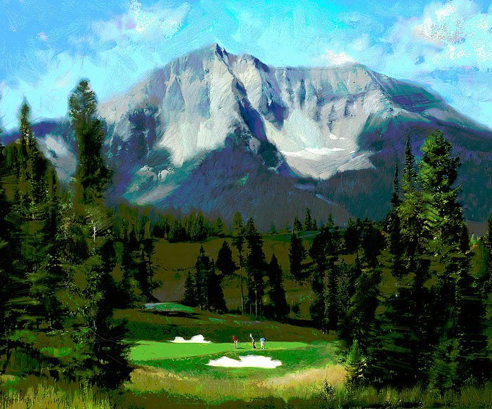 16TH HOLE, THE RESERVE AT MOONLIGHT BASIN - R. TOM