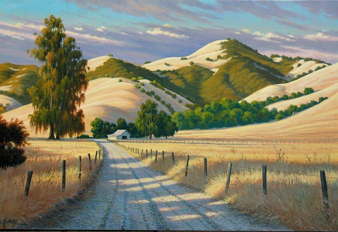 Original Charles White - Path Through the Maples 12x24