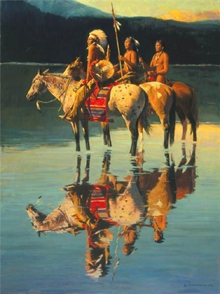 Peace on Blue Lake by David Mann