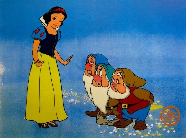 DISNEY SNOW WHITE 1937 ORIGINAL SERIGRAPH CEL