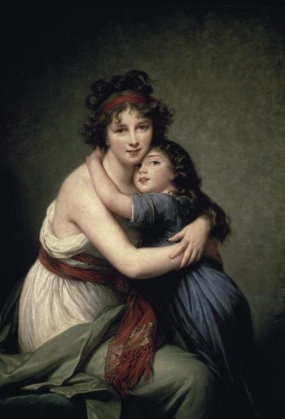 ELISABETH LOUISE VIGEE-LEBRUN - MADAME VIGEE-LEBRUN AND