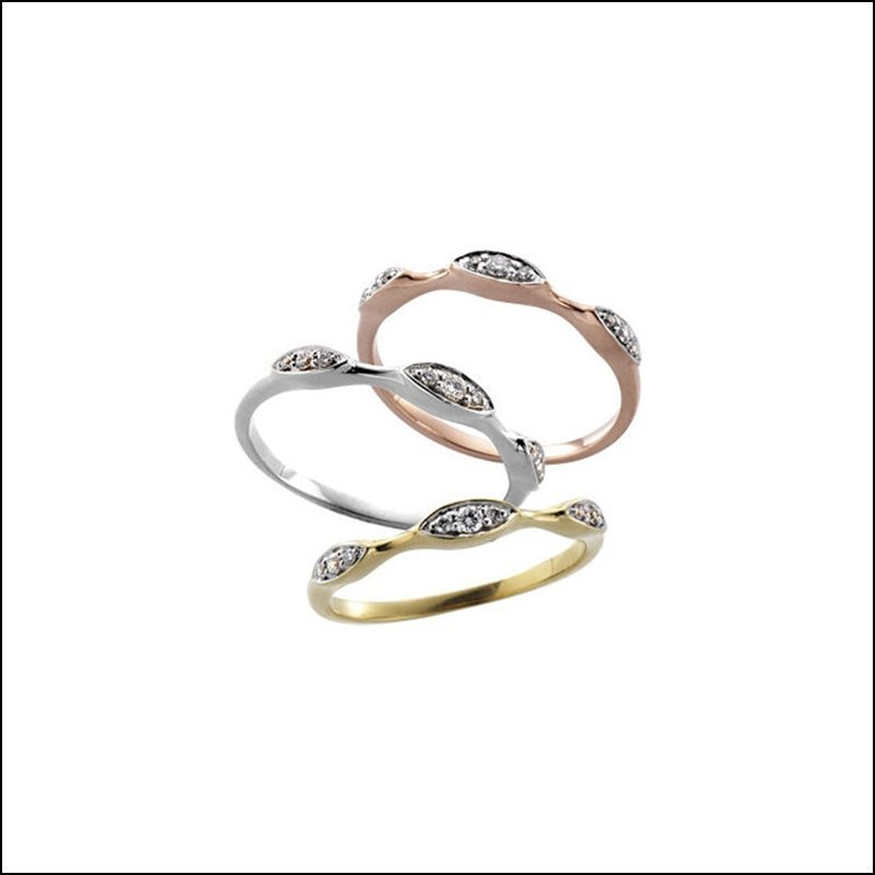 1/10 CT TW STACKABLE DIAMOND RING