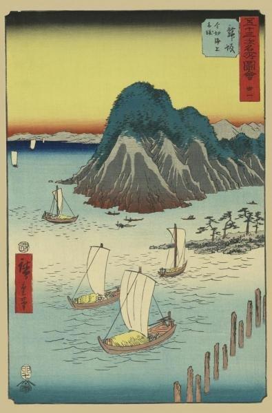 ANDO HIROSHIGE - MAISAKA, 1855