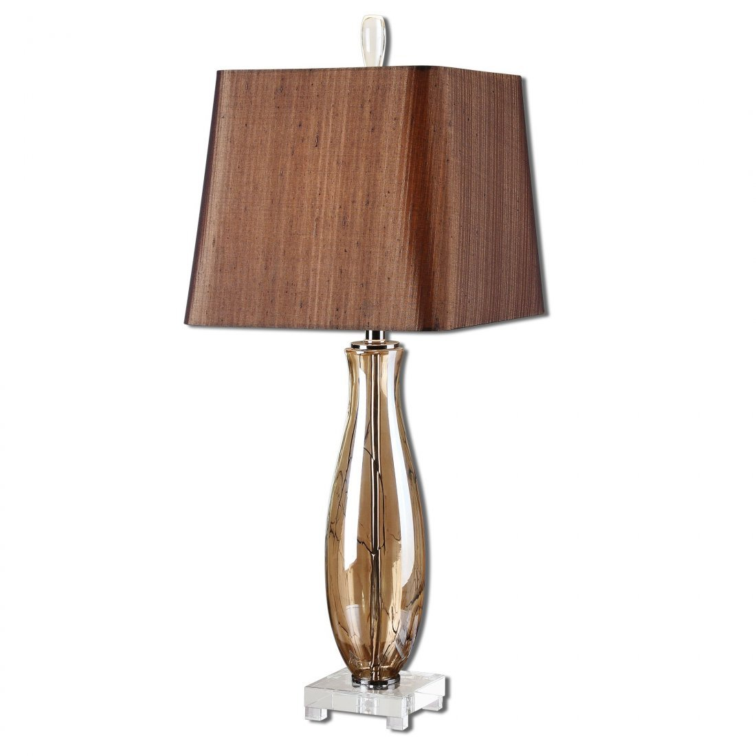 GATTIS AMBER GLASS TABLE LAMP