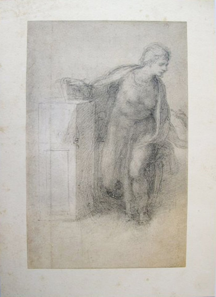 """MICHELANGELO 1970 LITHOGRAPH """"STUDY FOR AN"""