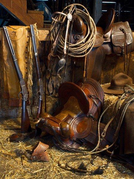 Rancher's Tack Room by Robert Dawson