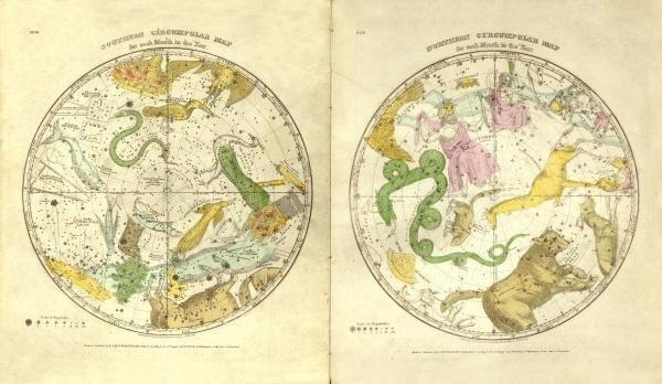 ELIJAH H. BURRITT - CIRCUMPOLAR MAP FOR EACH MONTH OF