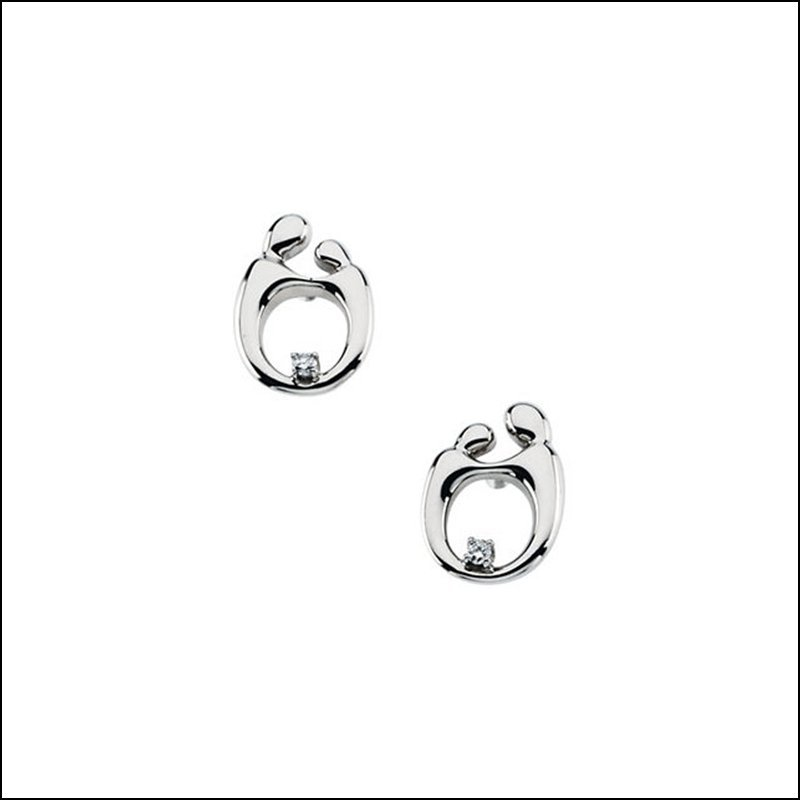 MOTHER AND CHILD DIAMOND POST EARRING