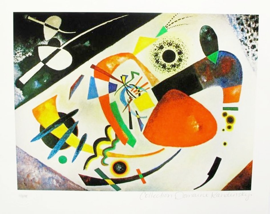 WASSILY KANDINSKY RED SPOT II ESTATE SIGNED LIMITED ED.