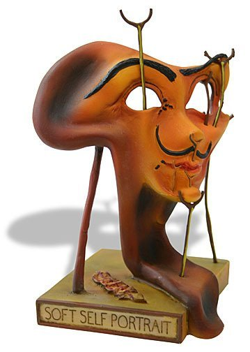 SELF-PORTRAIT WITH FRIED BACON SURREALISM STATUE BY