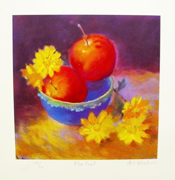 """NEL WHATMORE """"BLUE BOWL"""" HAND SIGNED LIMITED EDITION"""
