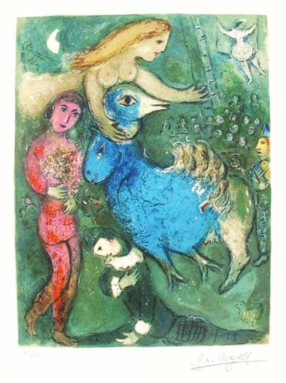 MARC CHAGALL CIRCUS FRONTISPIECE LIMITED ED. SMALL