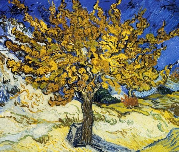 VINCENT VAN GOGH - THE MULBERRY TREE 1889