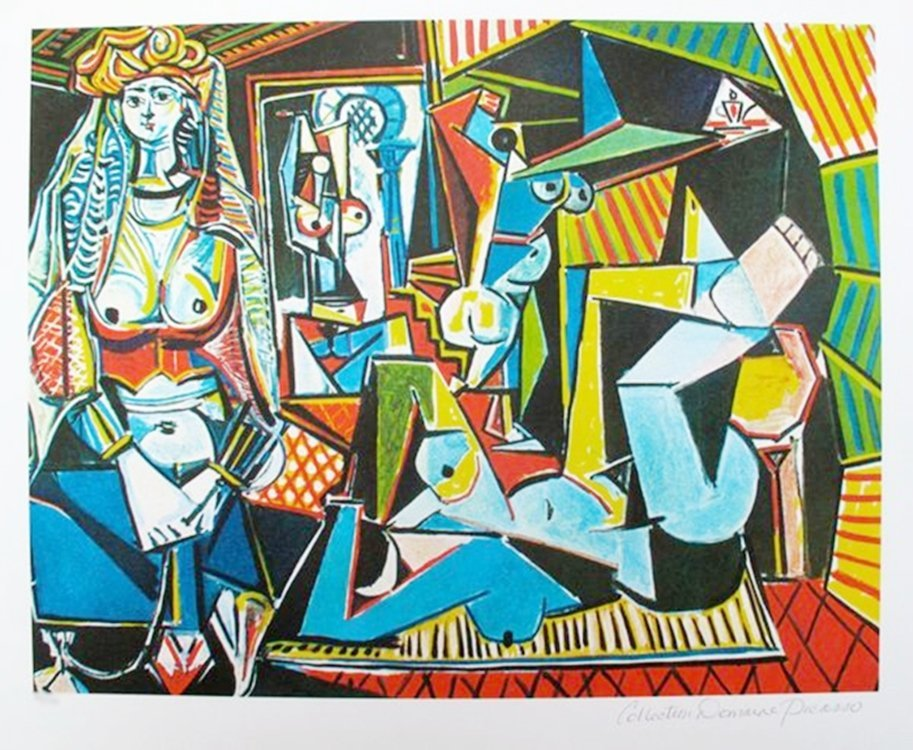 #1D9 COUPLE RELAXING PICASSO ESTATE SIGNED GICLÉE