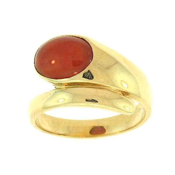 NATURAL RED JADEITE RING