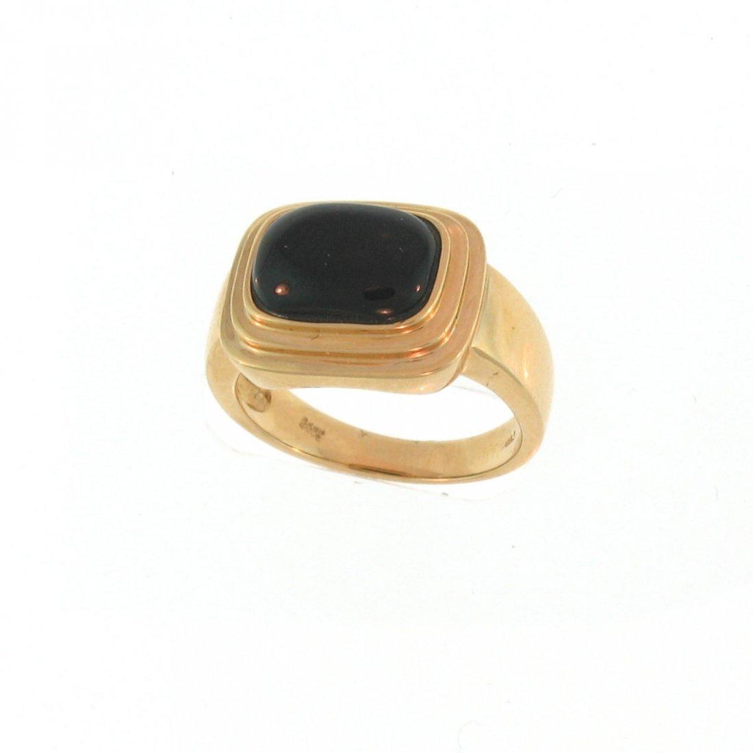 NATURAL BLACK JADEITE RING