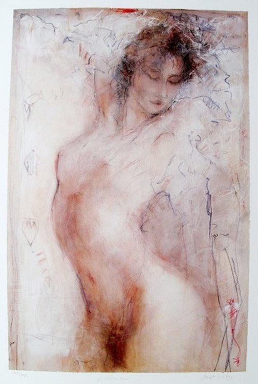 JANET TREBY L'AMOUR HAND SIGNED LIMITED ED. SERIGRAPH