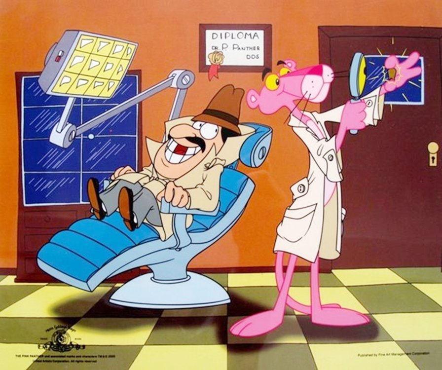 PINK PANTHER DENTIST ANIMATION SERICEL