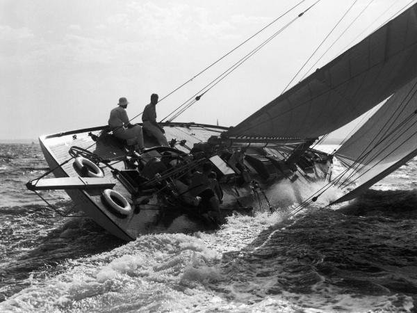 UNKNOWN - YACHT IN RACE, 1937
