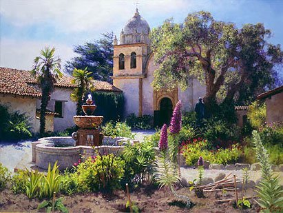 JUNE CAREY - SPRINGTIME IN THE MISSION GARDEN