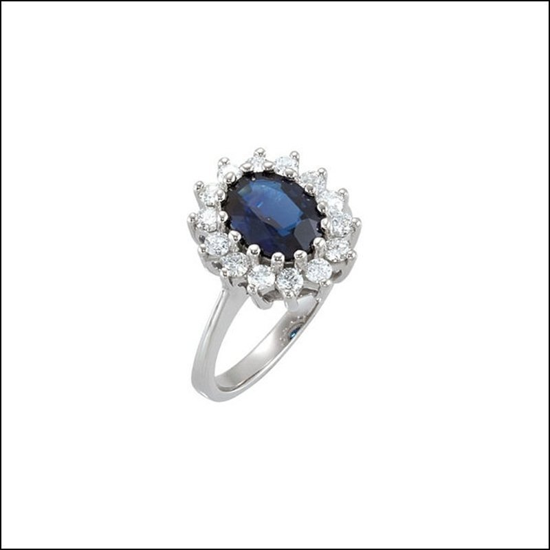 GENUINE SAPPHIRE & DIAMOND RING