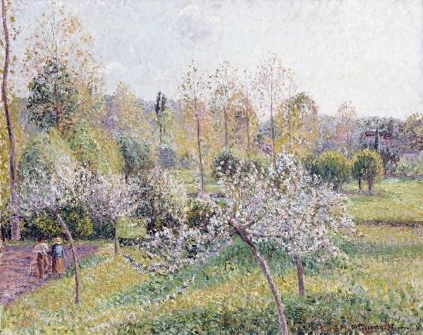 CAMILLE PISSARRO - APPLE TREES IN BLOSSOM, ERAGNY