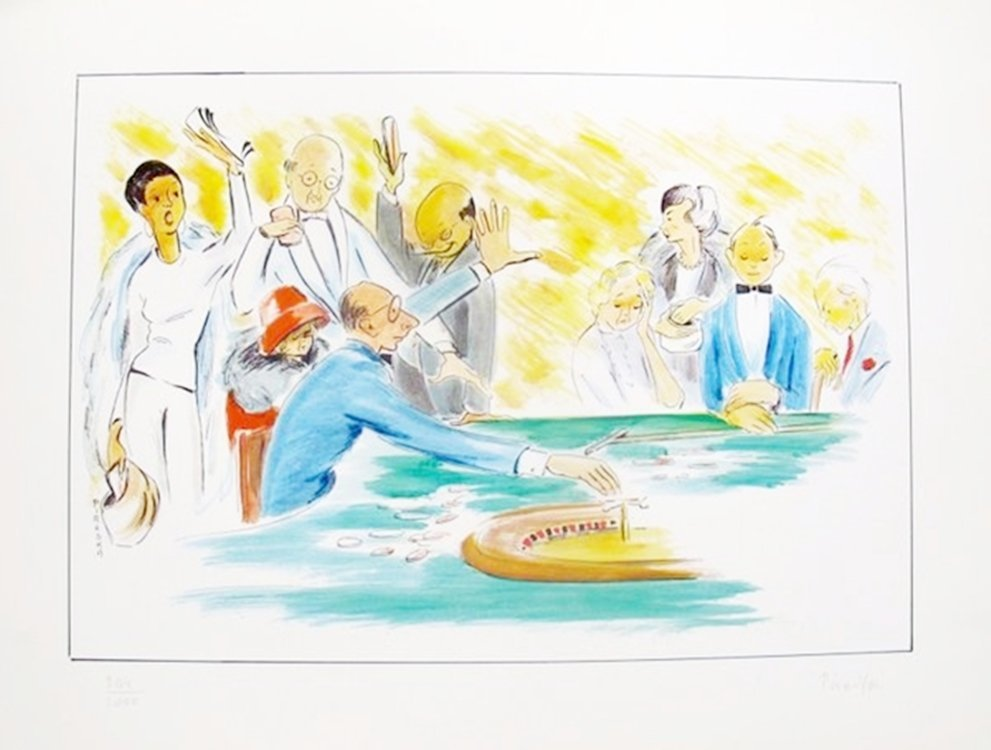 """PIROSKA KEVESI """"ROULETTE"""" HAND SIGNED LITHOGRAPH FROM"""