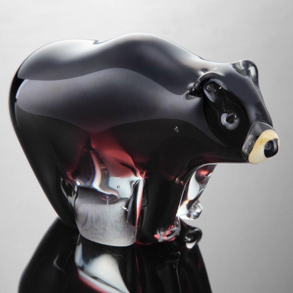 ART GLASS BLACK BEAR