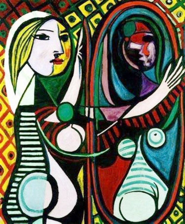 #56 GIRL BEFORE A MIRROR PICASSO ESTATE SIGNED GICLÉE