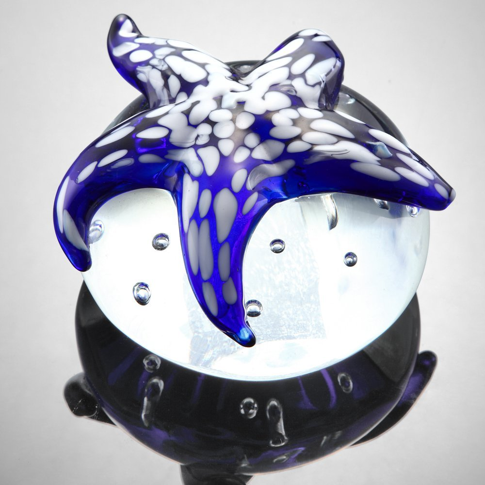AG BLUE STARFISH PAPERWEIGHT