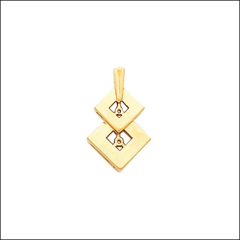 DOUBLE DIAMOND SHAPE PENDANT