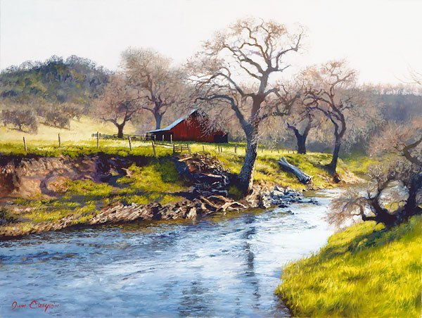 JUNE CAREY - EARLY SPRING AT STONY CREEK