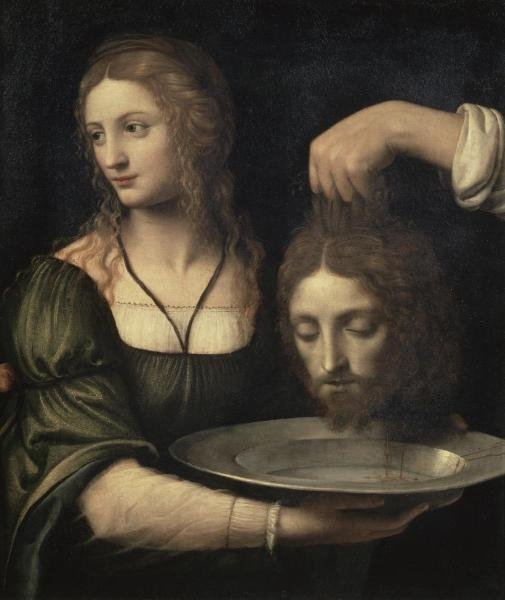 BERNARDINO LUINI - SALOME RECEIVING THE HEAD OF JOHN