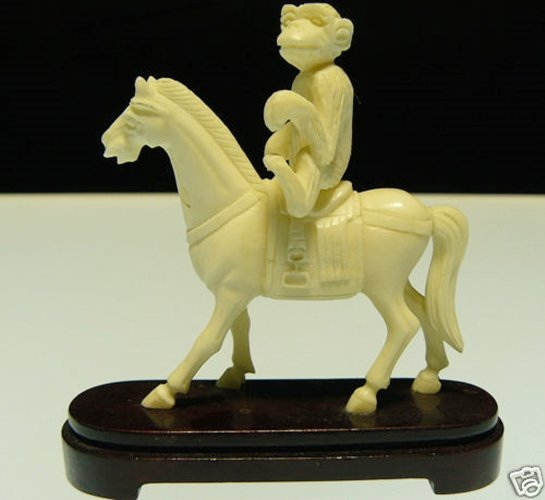 BONE MONKEY RIDING HORSE