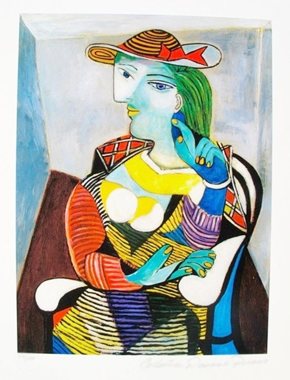 PABLO PICASSO MARIE THERESE WALTER ESTATE SIGNED