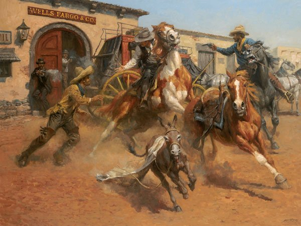 The Burro and the Bad Men by Andy Thomas
