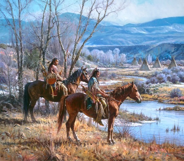 Apsaalooke Sentinels by Martin Grelle