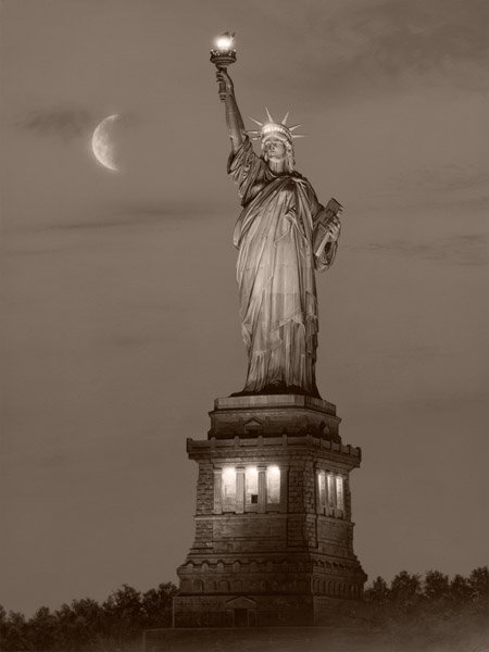 A Beacon of Hope - Sepia by Rod Chase
