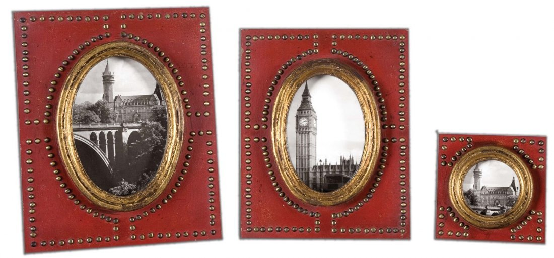 ABEO RED PHOTO FRAMES SET/3