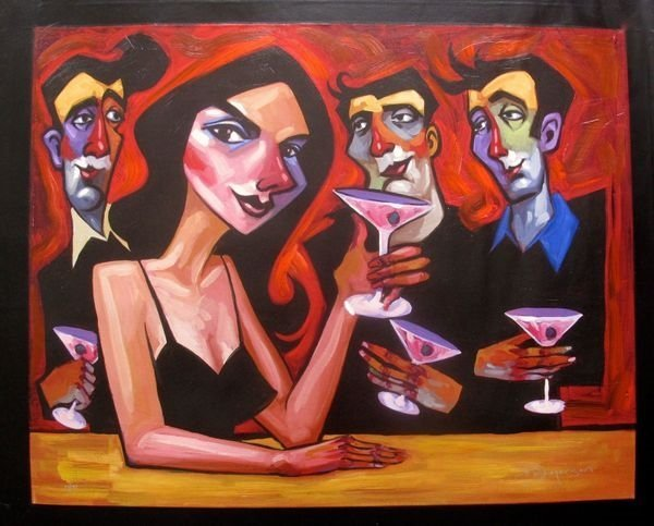 Tim Rogerson Midnight Martinis Hand Signed Limited