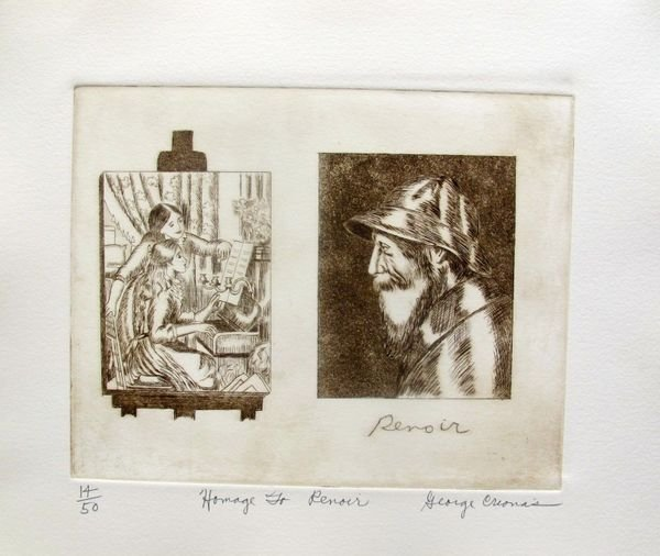 "George Crionas ""homage To Renoir"" Hand Signed Limited"