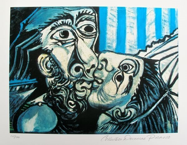 Pablo Picasso The Kiss Estate Signed Limited Edition