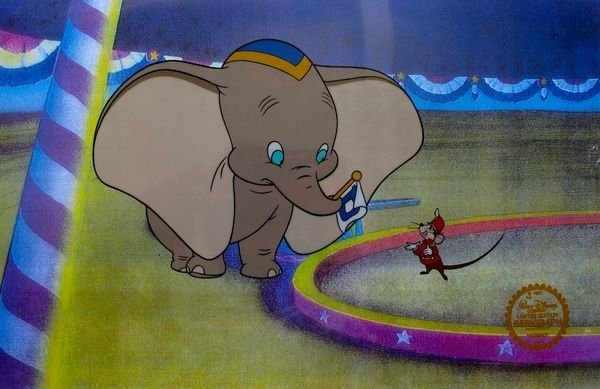 Disney Dumbo Original Sericel Serigraph Cel Animation