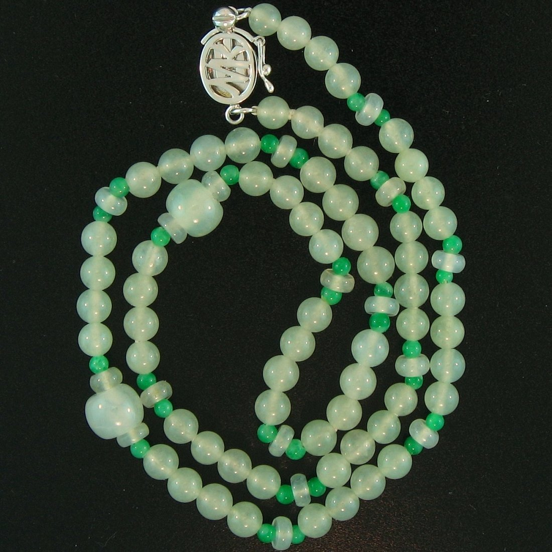 Natural Ice Water Jadeite Necklace