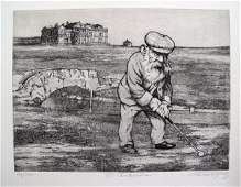 Charles Bragg St. Andrews Golf Hand Signed Limited