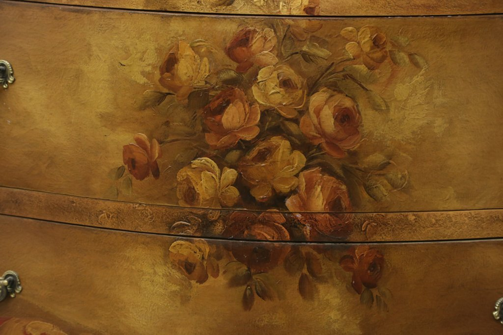 HAND PAINTED BOMBE CHEST - 2