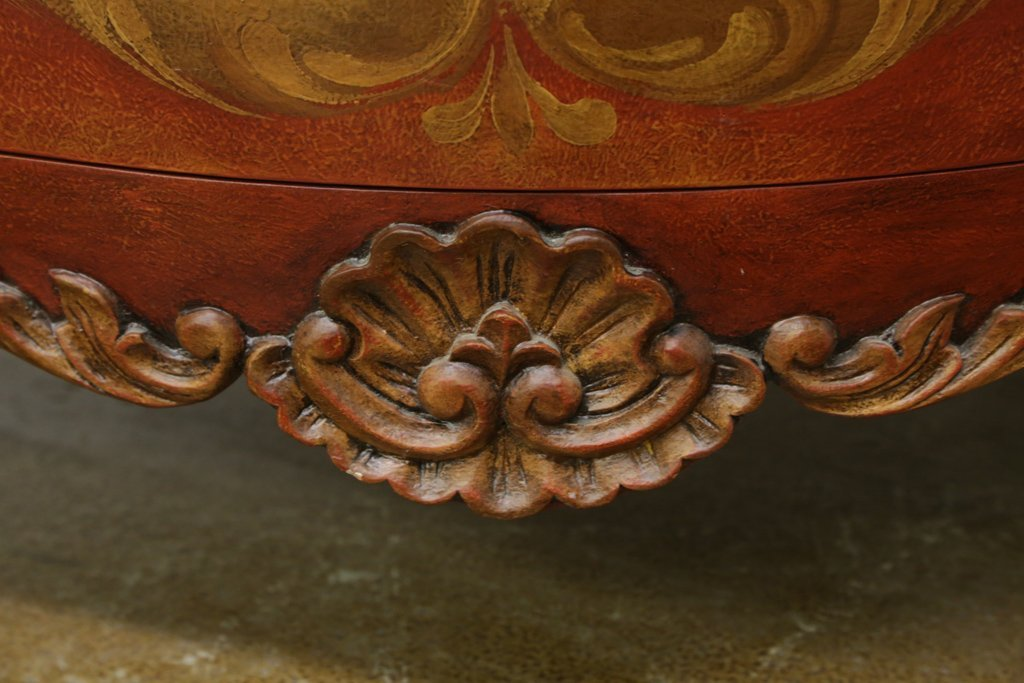 HAND PAINTED BOMBE CHEST - 3