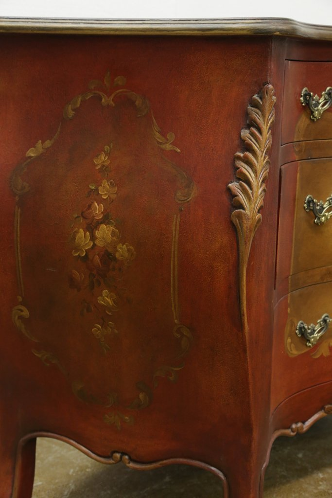 HAND PAINTED BOMBE CHEST - 4