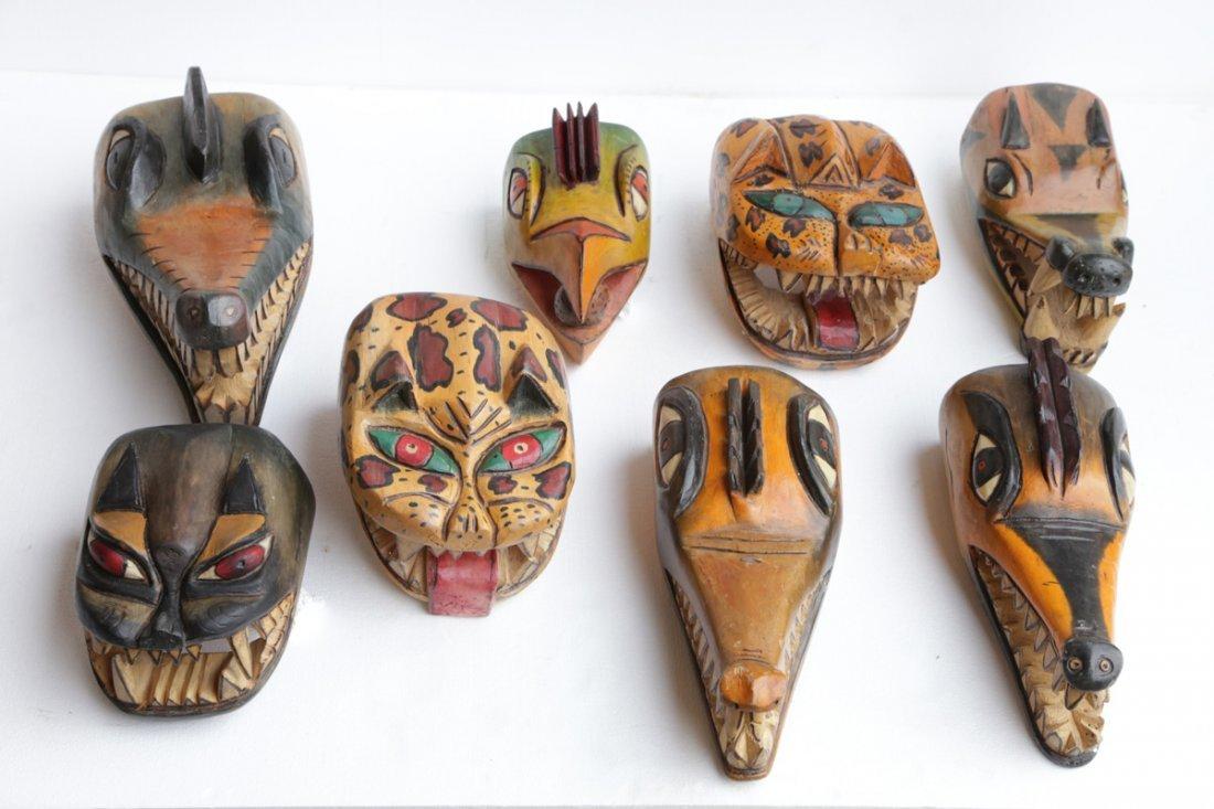 AMAZON JUNGLE MASKS SET OF 8 MASKS