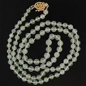 Burmese Ice Jade Necklace